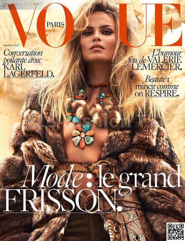 Vogue Paris September 2015 - Model: Natasha Poly, Lily Aldridge #vogueparis #natashapoly #lilyaldridge